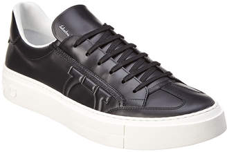 Salvatore Ferragamo Gancini Leather Sneaker