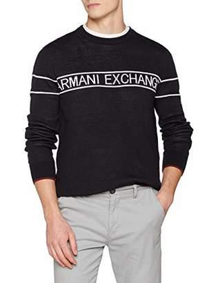 Armani Exchange A X Men's Band Pullover Crewneck Sweater