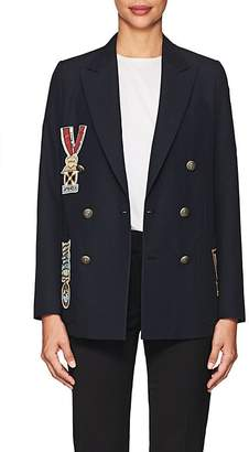 Valentino Women's Piqué Wool Double-Breasted Blazer