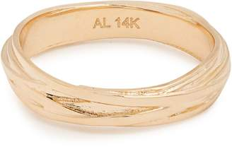 Alison Lou Yellow-gold Fettuccine ring