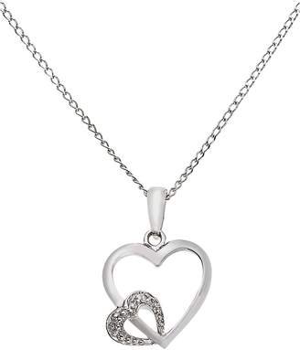 d354e7f2d Revere Sterling Silver Diamond Accent Double Heart Pendant