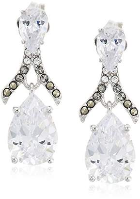 Judith Jack And Swarovski Marcasite Post Drop Earrings