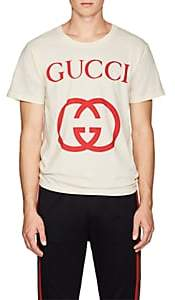Gucci Men's Interlocking-G-Print Cotton T-Shirt - White