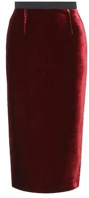 Roland Mouret Exclusive to mytheresa.com – Arreton velvet and crêpe skirt