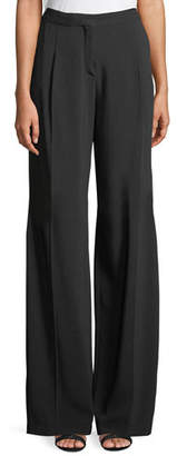Murad Zuhair Wide-Leg Crepe Tux Pants with Beaded Side