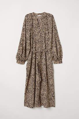H&M Balloon-sleeved dress - Beige