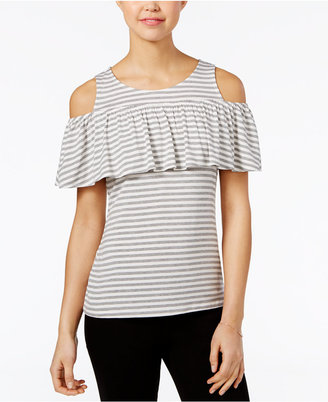 Maison Jules Striped Cold-Shoulder Top, Only at Macy's $39.50 thestylecure.com