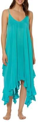 Bleu Rod Beattie BLEU by Rod Beattie Handkerchief Hem Cover-Up Dress