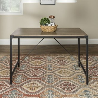 """Manor Park 48"""" Rustic Wood Dining Table - Driftwood"""