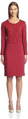Society New York Women's F158 046-AZN Seam Detail Dress