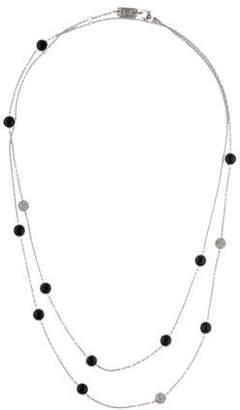 Ippolita Onyx & Diamond Station Necklace