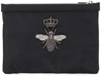 Dolce & Gabbana crowned bee patch clutch