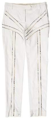 Altuzarra Snakeskin-Trimmed Skinny Pants