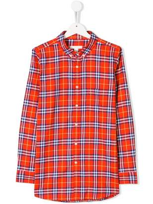 Burberry TEEN Fred checked shirt