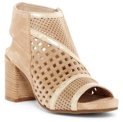 Khrio Perforated Block Heel Bootie