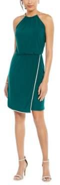 MSK Rhinestone Blouson Halter Dress