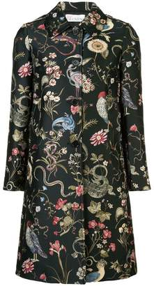 RED Valentino bird print midi coat