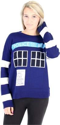Doctor Who TARDIS Women's Knitted Sweater (Juniors)