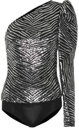 Alexandre Vauthier Asymmetrical sequined bodysuit
