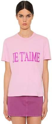 Alberta Ferretti Je T'aime Cotton Jersey T-Shirt