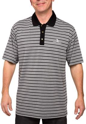 Equipment Men's Pebble Beach Classic-Fit Striped Performance Golf Polo