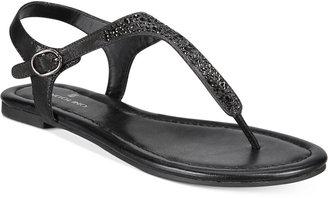 Bandolino Kyrie Embellished Flat Sandals $39 thestylecure.com