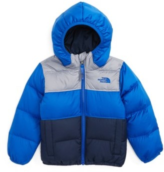 Toddler Boy's The North Face 'Moondoggy' Water Repellent Reversible Down Jacket $110 thestylecure.com