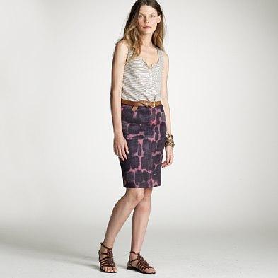 Ink blossom pencil skirt