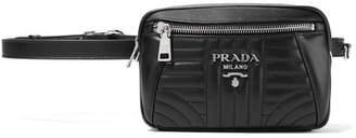 Prada Quilted Leather Belt Bag - Black