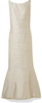 Oscar de la Renta Sequin-embellished Lurex Gown - Gold