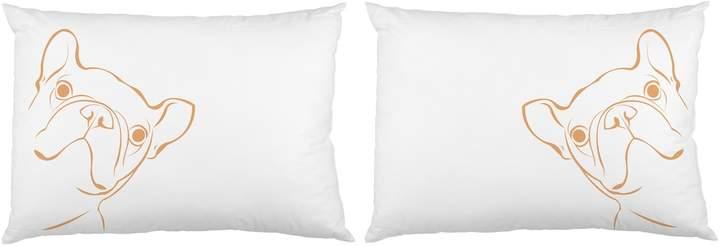 One Bella Casa Peeking Pup Pillowcases (Set of 2)
