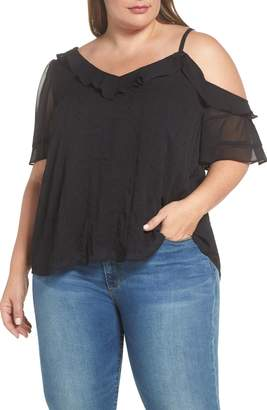 1 STATE 1.STATE Yoryu Single Cold Shoulder Blouse
