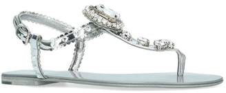 Dolce & Gabbana Embellished Thong Sandals
