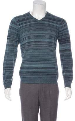 Armani Collezioni Long Sleeve V-Neck Sweater