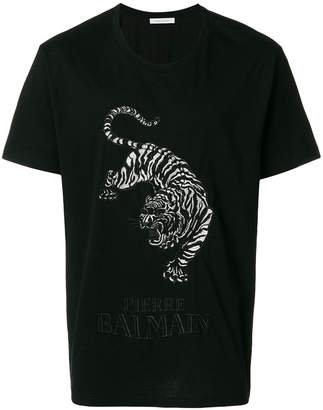 Pierre Balmain embroidered tiger T-shirt