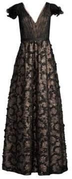 Aidan Mattox Lace Sequin Gown