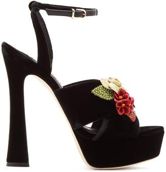 Sophia Webster Lilico crystal-embellished suede platform sandals