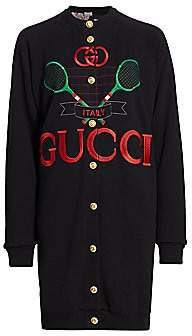 Gucci Women's Heavy Felted Jersey Reversible Sweatshirt