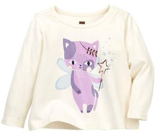 Tea Collection Cat Fairy Graphic Tee (Baby Girls)