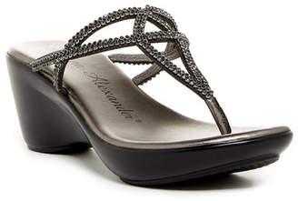 Athena Alexander Bestiee Embellished Thong Sandal
