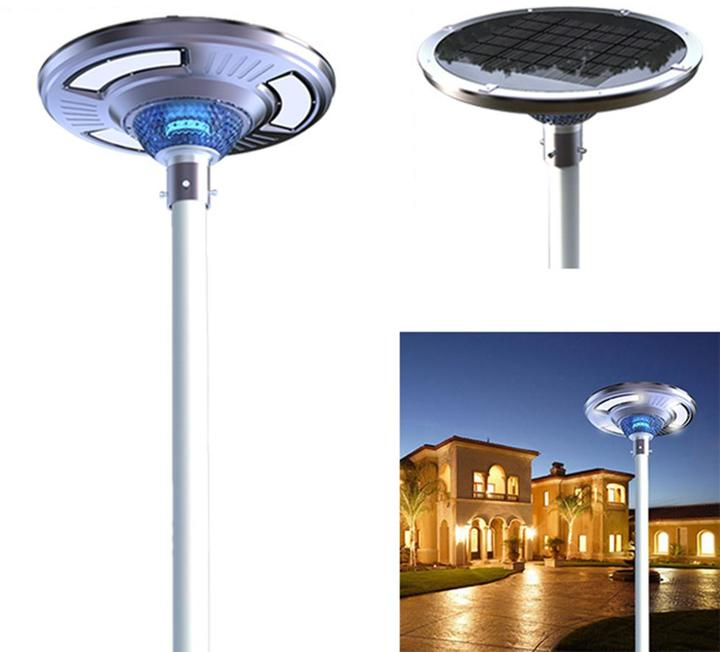 eLEDing Solar Powered SMART LED Round Light for Commercial Industrial Residential Path Walkways Courtyard Parking Lot