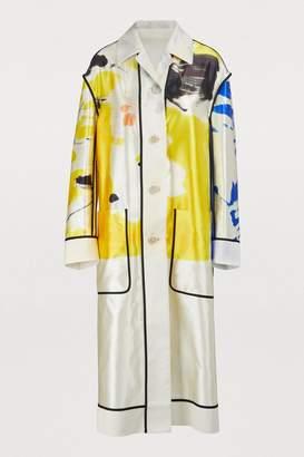 Dries Van Noten Silk blend printed coat