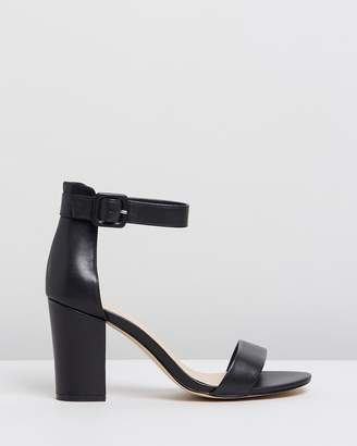 Atmos & Here Lisa Leather Block Heels
