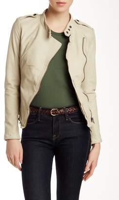 Muubaa Tredoux Leather Blazer $475 thestylecure.com