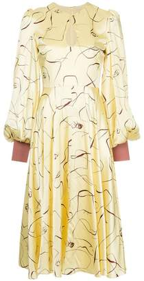 Roksanda Herona abstract print dress