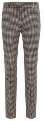 BOSS Hugo Micro-checked cropped pants in a stretch-cotton 2 Patterned