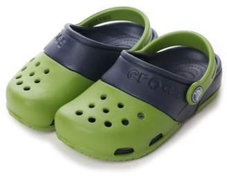 Crocs (クロックス) - LOCONDO クロックス crocs ジュニアサンダル エレクトロ Electro 2.0 Clog Parrot Green/Navy C10 15608-31X-C10