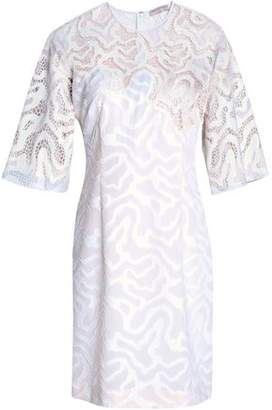 Emilio Pucci Sequin-Embellished Embroidered Tulle And Fil Coupé Cotton-Blend Dress
