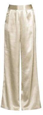 Ramy Brook Metallic Wide-Leg Pants