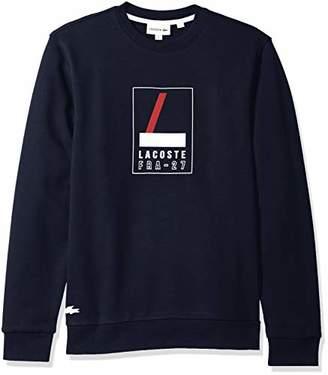 Lacoste Men's Long Sleeve Heritage Graphic Crewneck Sweatshrt